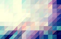Πορφυρό και μπλε χρωματισμένο τριγωνικό υπόβαθρο σχεδίων διανυσματική απεικόνιση