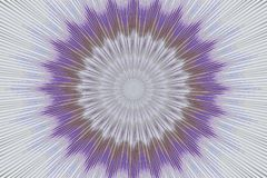 Πορφυρό καλειδοσκόπιο mandala σχεδίων floral υπνωτικός ελεύθερη απεικόνιση δικαιώματος