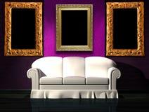 πορφυρό λευκό τοίχων καν&alpha διανυσματική απεικόνιση