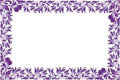 Πορφυρό λουλούδι - σύνορα Στοκ εικόνα με δικαίωμα ελεύθερης χρήσης