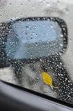 πορφυρό παράθυρο βροχής Στοκ Εικόνα