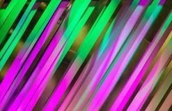 Πορφυρό πράσινο πλαίσιο τέχνης σχεδίου λουρίδων χρωμάτων Στοκ Εικόνες