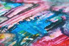 Πορφυρό ρόδινο κόκκινο μπλε άσπρο χρώμα watercolor, μαλακά χρώματα μιγμάτων, υπόβαθρο σημείων ζωγραφικής, ζωηρόχρωμο αφηρημένο υπ Στοκ Φωτογραφία