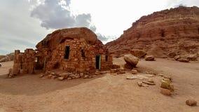 Πορφυρό σπίτι κατοίκων απότομων βράχων στην Αριζόνα στοκ φωτογραφία με δικαίωμα ελεύθερης χρήσης