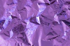 Πορφυρό υπόβαθρο σύστασης φύλλων αλουμινίου στοκ εικόνα
