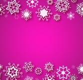 Πορφυρό χειμερινό σχέδιο με τη θέση για το κείμενο χαιρετισμού Χριστουγέννων Διανυσματική απεικόνιση
