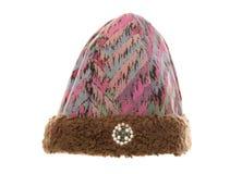 Πορφυρό caveman καπέλο woolie Στοκ φωτογραφία με δικαίωμα ελεύθερης χρήσης