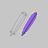 Πορφυρό skateboard Στοκ Εικόνες
