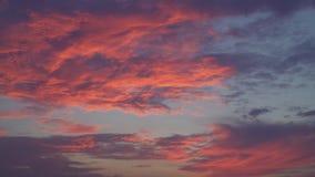 Πορφυρό skyscape το βράδυ απόθεμα βίντεο