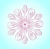 Πορφυρό snowflake στο μπλε υπόβαθρο διανυσματική απεικόνιση