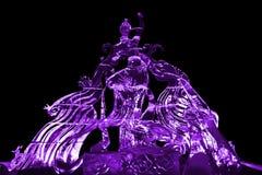 Πορφύρα γλυπτών νεράιδων και πάγου του Phoenix Στοκ φωτογραφία με δικαίωμα ελεύθερης χρήσης