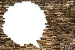 Πορώδης τοίχος για την ανασκόπηση λεκτικών φυσαλίδων Στοκ εικόνες με δικαίωμα ελεύθερης χρήσης