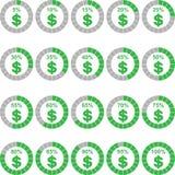 Ποσοστό νομίσματος δολαρίων ελεύθερη απεικόνιση δικαιώματος
