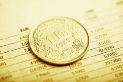 Ποσοστό του ελβετικού φράγκου στοκ εικόνες με δικαίωμα ελεύθερης χρήσης
