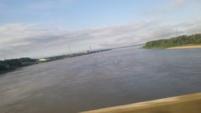 Ποτάμι Μισισιπή από το ανάχωμα Στοκ Φωτογραφία