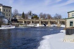 Ποτάμι Μισισιπή, Almonte, Οντάριο, Καναδάς Στοκ Εικόνες