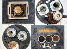 Ποτά, κατανάλωση, ενέργεια, έννοια σχεδίου καφεΐνης στοκ εικόνα με δικαίωμα ελεύθερης χρήσης