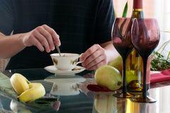 ποτά καφέ Στοκ Εικόνες