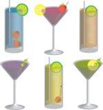 ποτά κοκτέιλ διανυσματική απεικόνιση