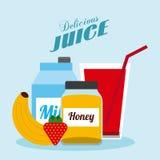 Ποτά με το σχέδιο γυαλιών της απεικόνιση αποθεμάτων