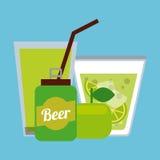 Ποτά με το σχέδιο γυαλιών της διανυσματική απεικόνιση