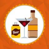 Ποτά με το σχέδιο γυαλιών της Στοκ Εικόνα