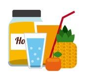 Ποτά με το σχέδιο γυαλιών της ελεύθερη απεικόνιση δικαιώματος