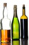 ποτά μπουκαλιών αλκοόλη&sigm Στοκ Φωτογραφία