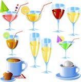 ποτά που τίθενται διανυσματική απεικόνιση