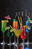 ποτά ράβδων αλκοόλης στοκ φωτογραφίες