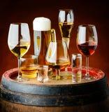Ποτά στα γυαλιά στοκ φωτογραφία με δικαίωμα ελεύθερης χρήσης