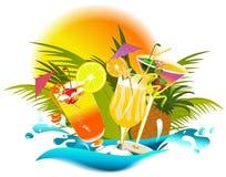 ποτά τροπικά διανυσματική απεικόνιση