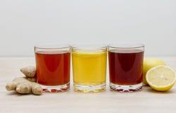 Ποτά των διαφορετικών χρωμάτων Στοκ φωτογραφία με δικαίωμα ελεύθερης χρήσης