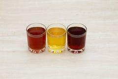 Ποτά των διαφορετικών χρωμάτων Στοκ Εικόνες