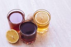 Ποτά των διαφορετικών χρωμάτων Στοκ εικόνες με δικαίωμα ελεύθερης χρήσης