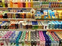 Ποτά υγείας σε ένα έξοχο κατάστημα Στοκ Εικόνες