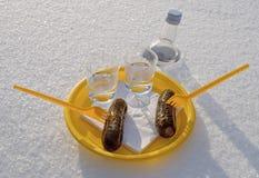 Ποτήρια της βότκας Στοκ φωτογραφία με δικαίωμα ελεύθερης χρήσης