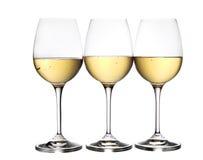 Ποτήρια του άσπρου κρασιού Στοκ φωτογραφία με δικαίωμα ελεύθερης χρήσης