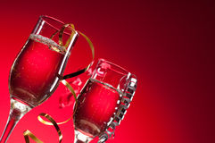 Ποτήρια του κόκκινου κρασιού Στοκ φωτογραφίες με δικαίωμα ελεύθερης χρήσης