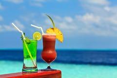 Ποτήρια του μη αλκοολούχου ποτού Στοκ εικόνα με δικαίωμα ελεύθερης χρήσης