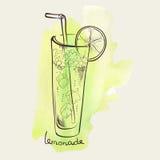 Ποτήρι της λεμονάδας ελεύθερη απεικόνιση δικαιώματος