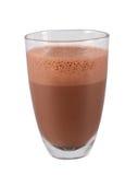 Ποτήρι της καυτής σοκολάτας Σοκολάτα που εξυπηρετείται καυτή στο γυαλί ποτό καυτό Στοκ Φωτογραφίες