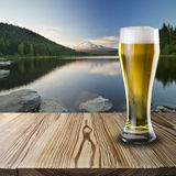 Ποτήρι της κρύας μπύρας Στοκ φωτογραφία με δικαίωμα ελεύθερης χρήσης
