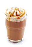 Ποτήρι του καφέ latte με την κτυπημένη κρέμα Στοκ Φωτογραφίες
