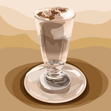 Ποτήρι του καφέ Latte Στοκ Φωτογραφίες