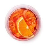 Ποτήρι του κοκτέιλ aperol spritz Στοκ Εικόνες