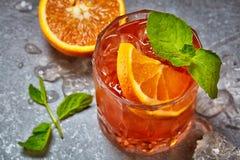 Ποτήρι του κοκτέιλ aperol spritz Στοκ Εικόνα