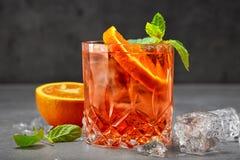 Ποτήρι του κοκτέιλ aperol spritz Στοκ Φωτογραφία