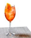 Ποτήρι του κοκτέιλ aperol spritz Στοκ εικόνες με δικαίωμα ελεύθερης χρήσης