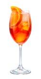 Ποτήρι του κοκτέιλ aperol spritz Στοκ εικόνα με δικαίωμα ελεύθερης χρήσης